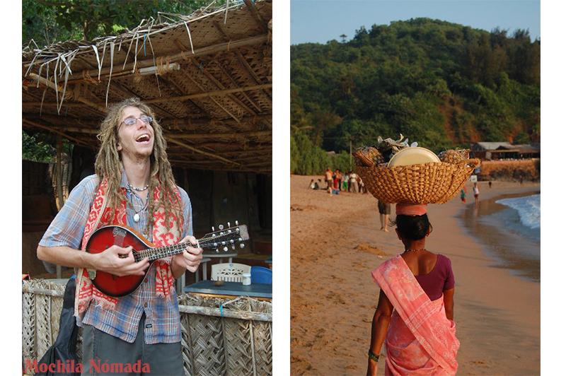 Danny, su mandolina, y la frutería de la playa