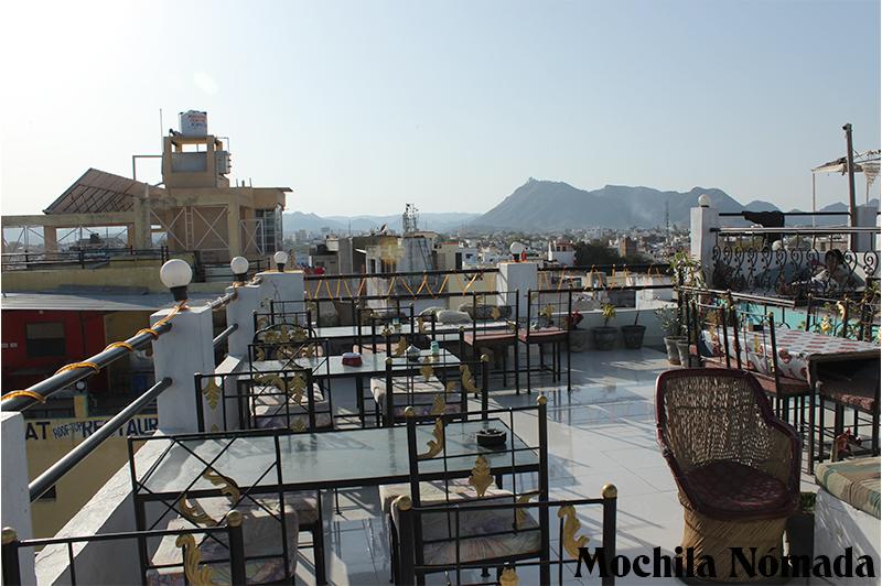 Rooftop de un Guest House en Udaipur