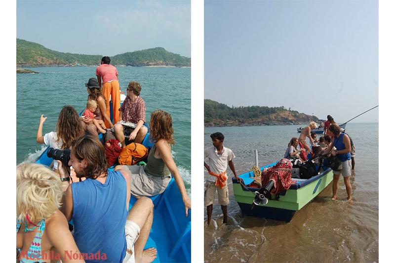 Con nuestra barca hacia Paradise Beach