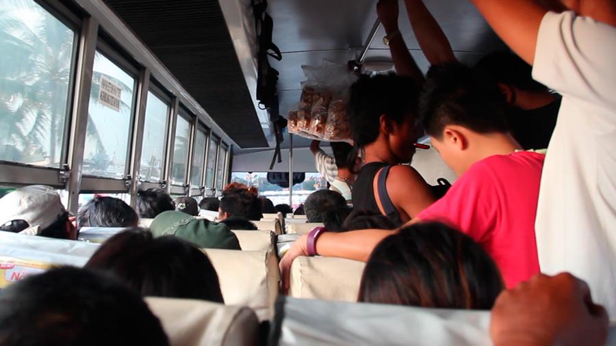 Cuando el bus aún iba vacío