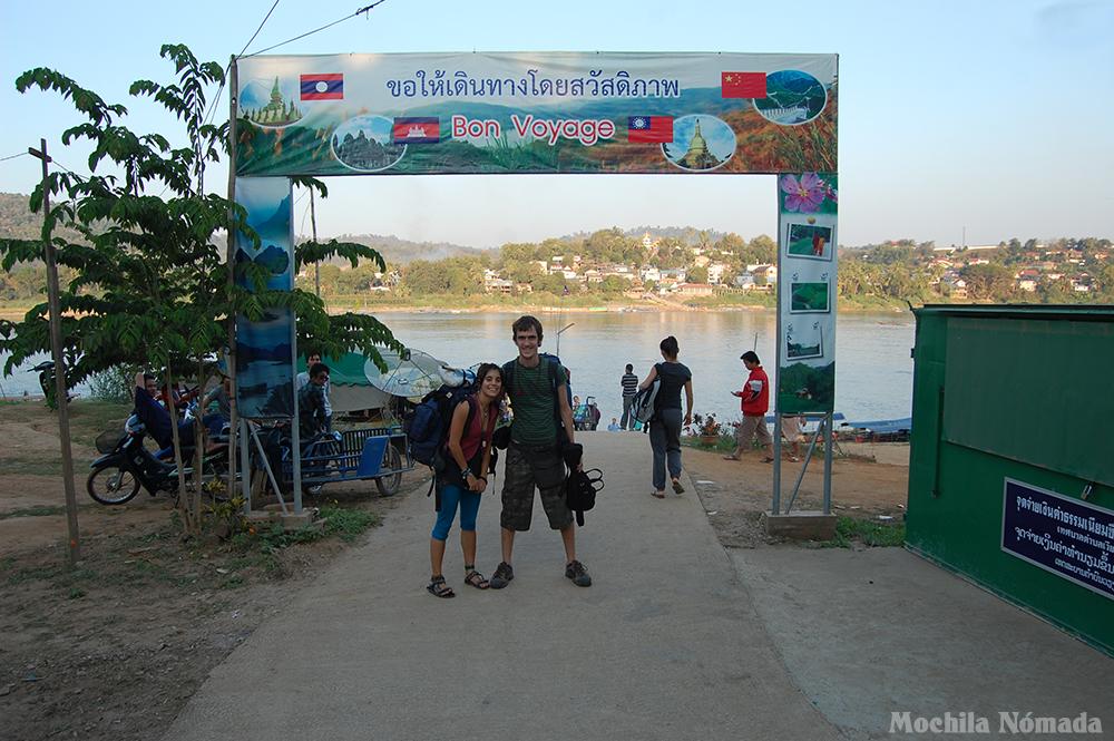 Frontera Tailandia – Laos  (paso norte por Huay Xai)